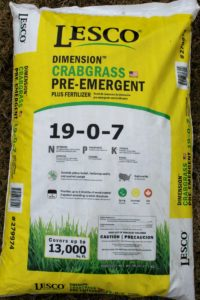 Lesco pre emergent weed control and fertilizer